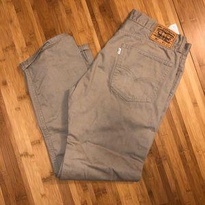 Mens Levi's 505 khaki jeans 36/32